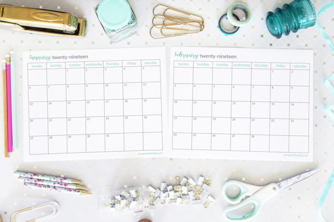 2019-Monthly-Calendars-January-and-February-Horizontal-680x453